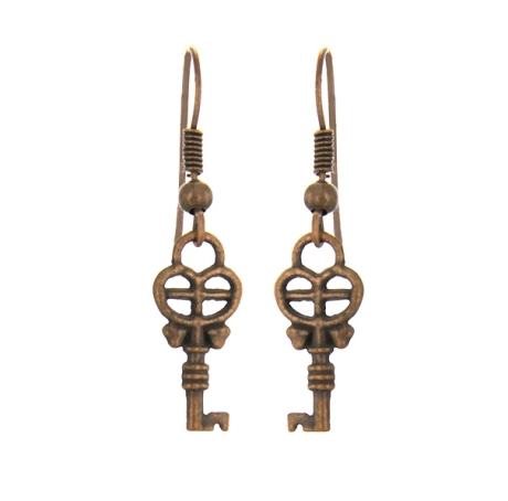 Серьги в виде ключей символика украшений