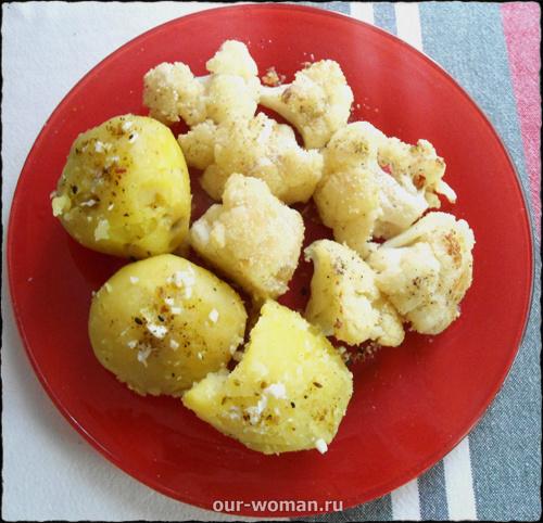 цветная капуста с картофелем   our-woman.ru