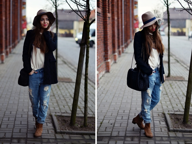 советы по стилю с чем носить джинсы бойфренды   our-woman.ru