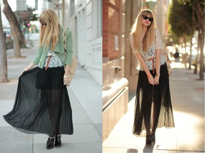 модные тренды года длинная плиссированная юбка | our-woman.ru