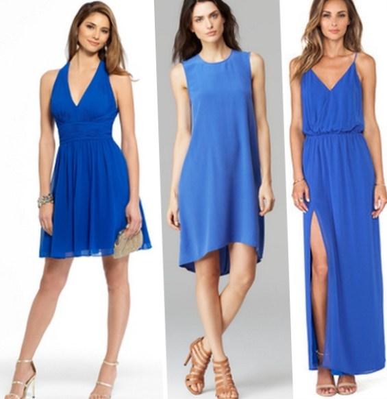 Темно синее платье с золотыми туфлями