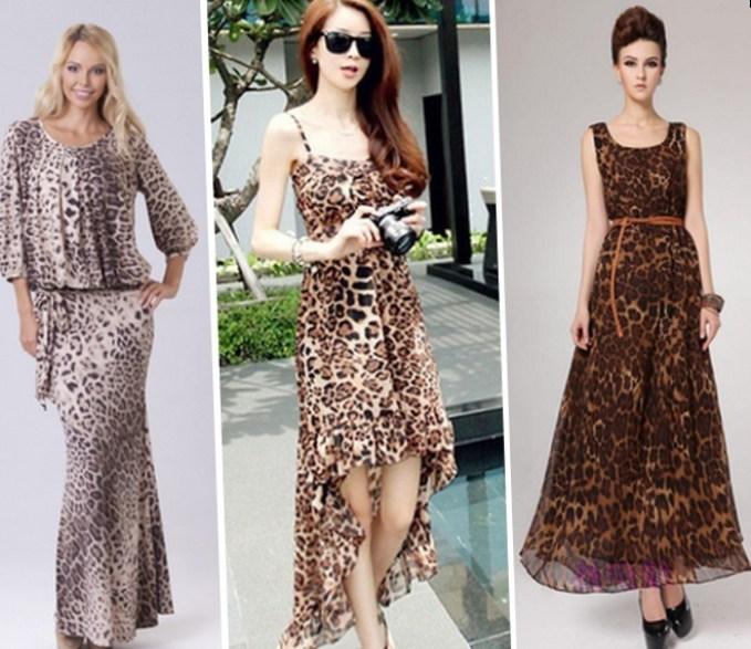 Фото платье леопардовое в пол фото