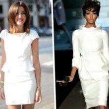 С чем носить светлое платье