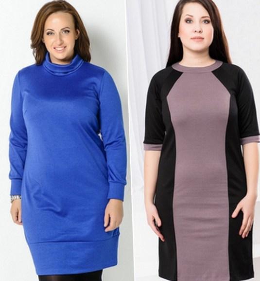 Теплое платья для полных женщин