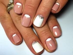 Дизайн шеллака на короткие ногти фото