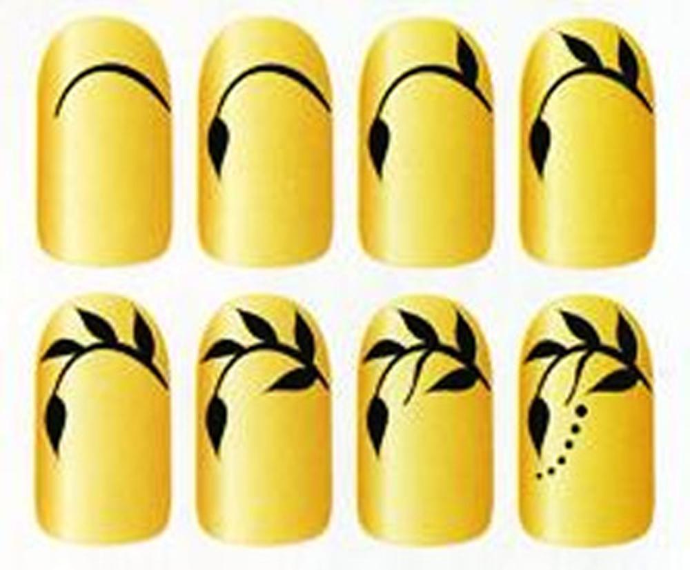 Пошаговое рисование на ногтях