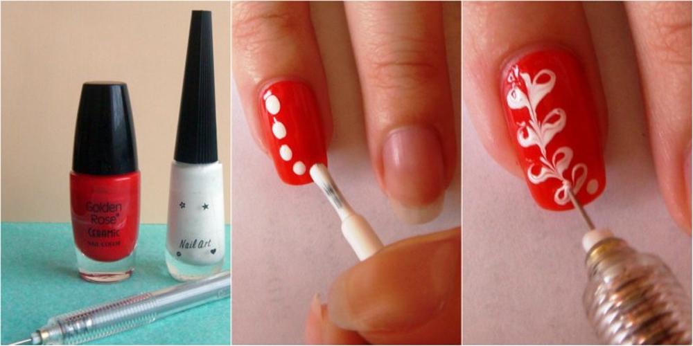 Сделать узор на ногтях в домашних условиях 14