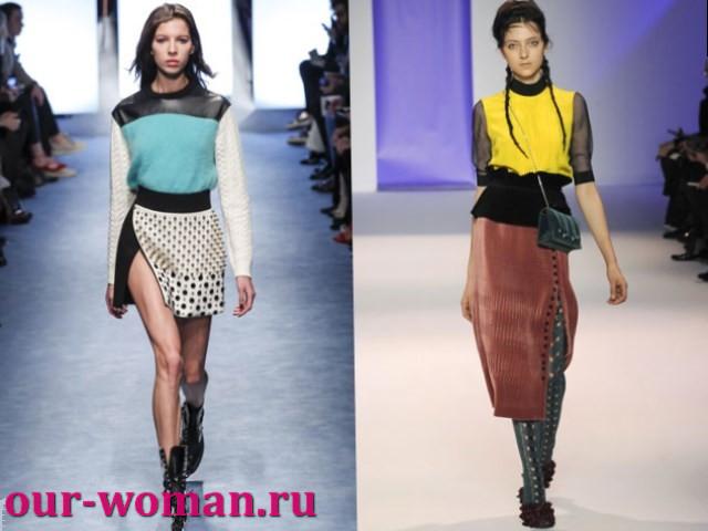 Модные юбки осень-зима 2017-2018