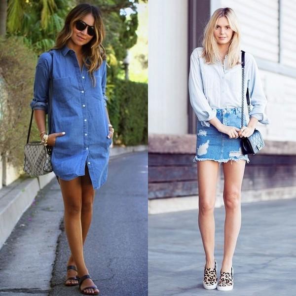 Джинсовые юбки в тренде в 2017