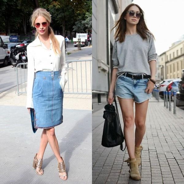 Платья юбки костюмы из джинсах