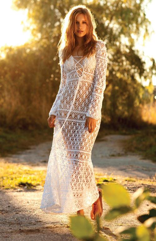 Вязаные платья фото новинки5