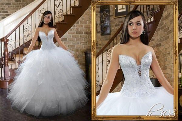 Пышная модель свадебного платья