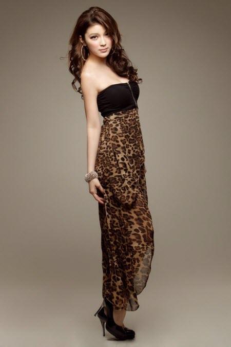 леопардовая юбка в пол8