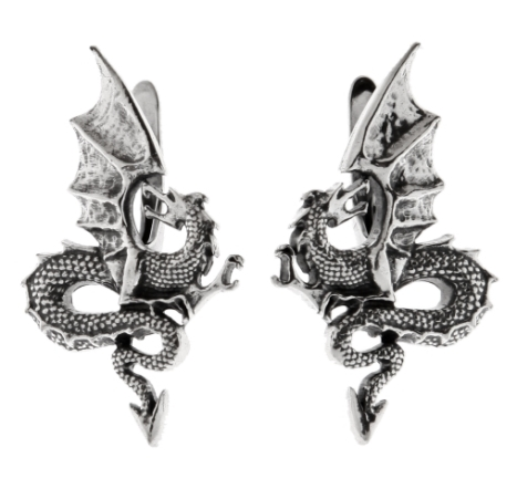 Серьги в виде драконов символика украшений