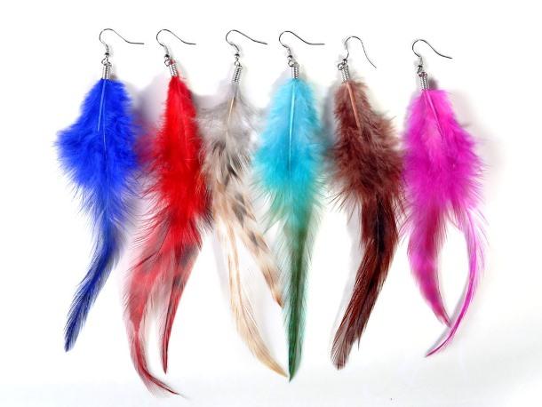 Серьги в виде перьев символика украшений
