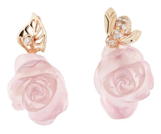 Серьги в виде цветов роз символика украшений