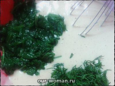 творожная запеканка со шпинатом и сыром | our-woman.ru