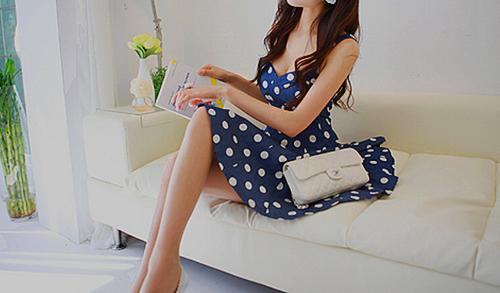 модные тренды года платье в горох | our-woman.ru