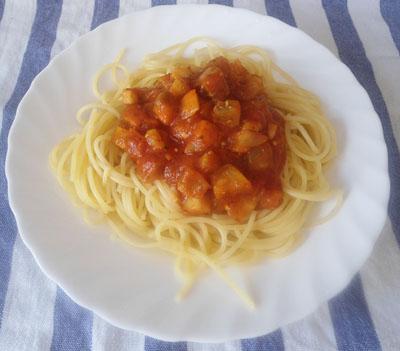 рецепт спагетти с томатным соусом фото | our-woman.ru