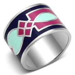 яркие украшения с эмалью кольцо | our-woman.ru