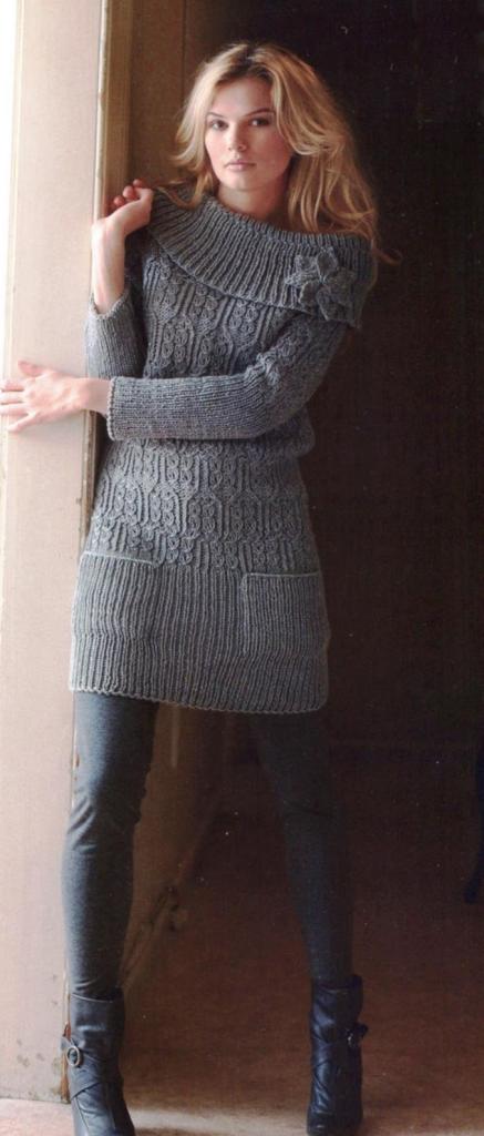 Платье свитер_18