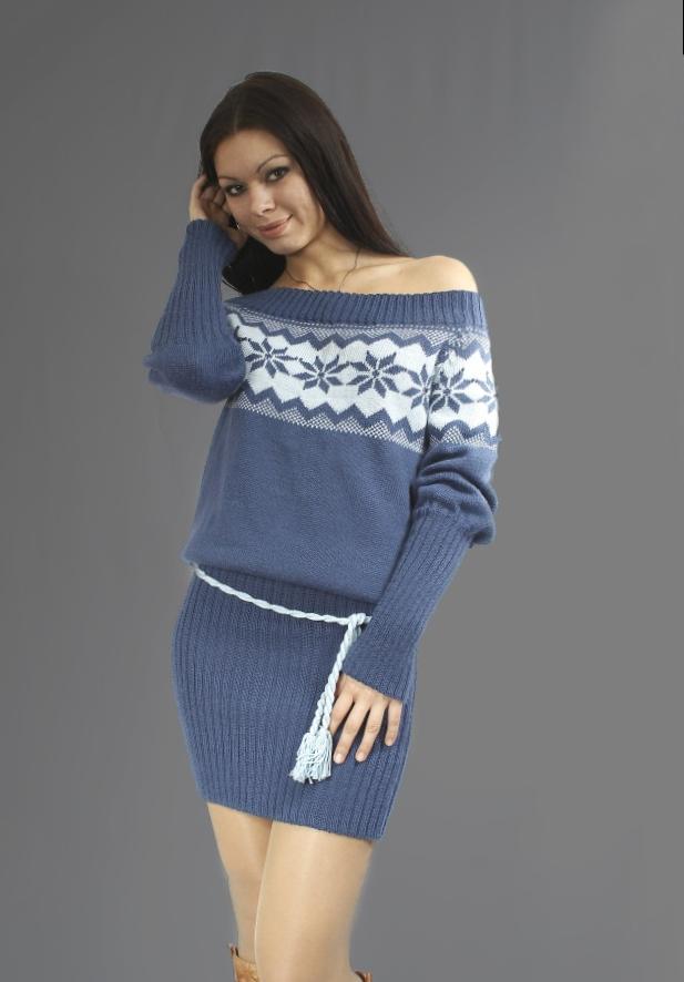 Платье свитер_19
