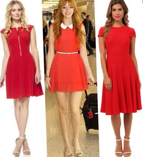 Что подойдет к красному платью