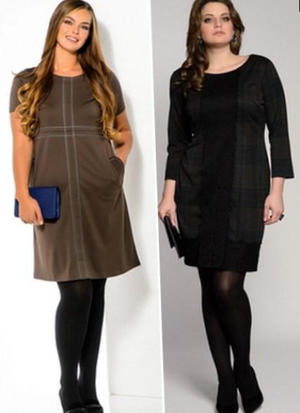 фото строгие платья для полных женщин