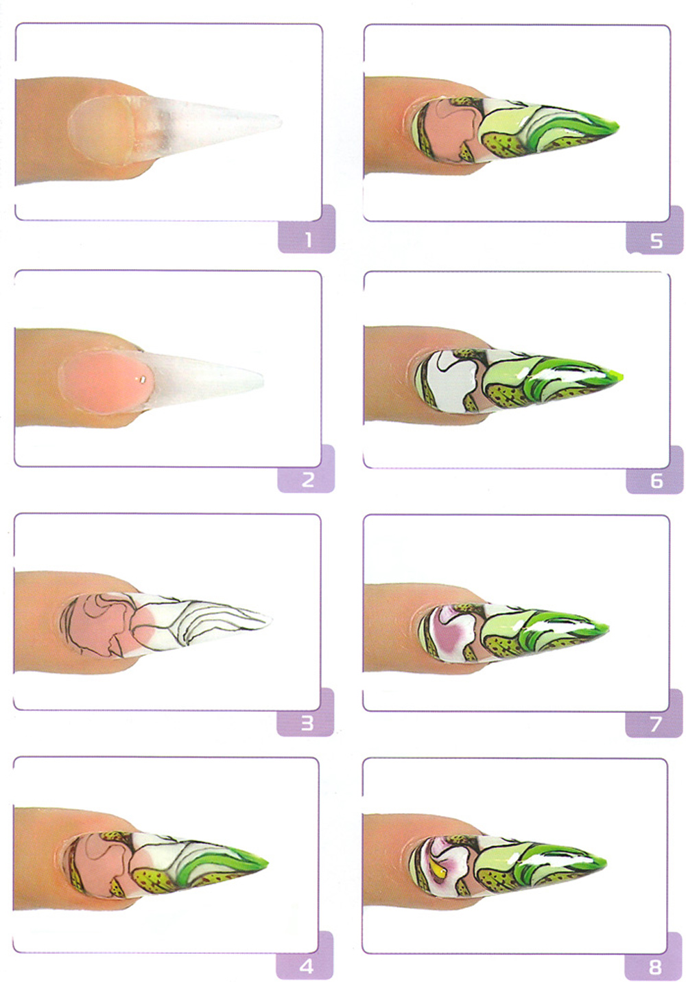 Схемы рисунков на ногтях иголкой для начинающих пошаговое фото