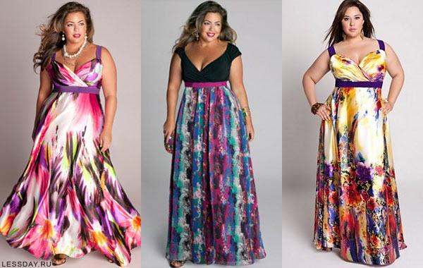 летние платья для полных женщин 2016 фото1