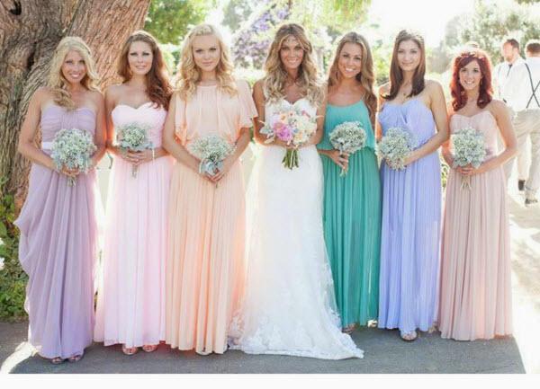 цвета свадебных платьев