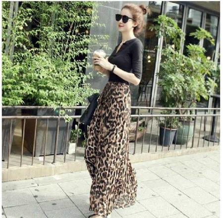 леопардовая юбка в пол3