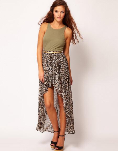 леопардовая юбка в пол5