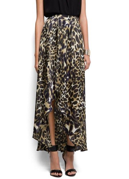 леопардовая юбка в пол7